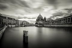 Berliner Dom (Aaron James Rodgers) Tags: berlin longexposure silkywater leefilter wideangle riverspree germany bigstopper cityscape berlinerdom nikond750 blackandwhite clouds