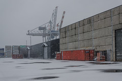Cranes and containers (AstridWestvang) Tags: containers crane harbour industry larvik snow