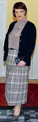 Birgit023907 (Birgit Bach) Tags: pleatedskirt faltenrock bowblouse schleifenbluse cardigan strickjacke