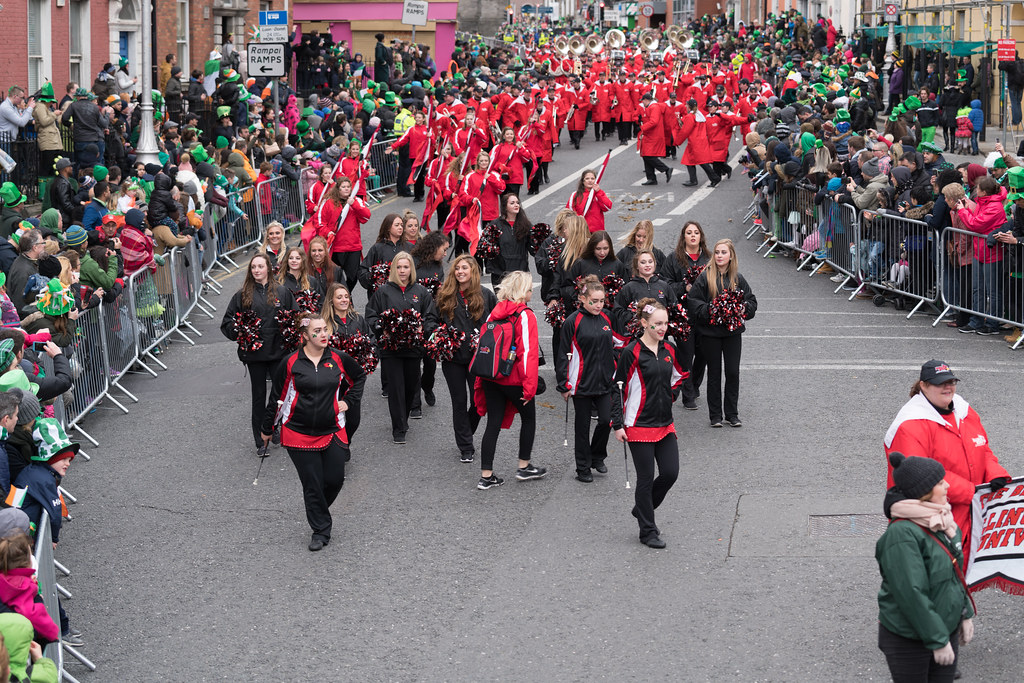 Illinois State University's Big Red Marching Machine [St. Patricks Parade 2017]-125836