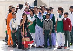 Indian students who visit RED FORT, DELHI  INDIA DSC05618-2 (mariomath) Tags: india inde taj mahal agramoghol mumtaz yamuna makrana merveille akbar shah jahan voyagearabais tajmahal 7merveillesdumonde mumtazmahal shahjahan