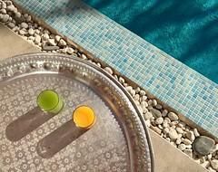 Good Morning Marrakesch! (jennifer.stahn) Tags: travel travelphotography maroc marocco marokko marrakesch marrakesh marrakech 2ciels 2cielshotel pool niceview morning juice iphone jennifer stahn