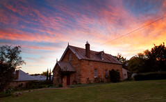 Schools out (Aurorajane) Tags: berrima nsw 2577 wingecarribee southernhighlands highlands historical past stone building rocks hardlabour important town country rural old aged vintage sunset evening outdoor landscape architecture rocksolid