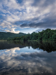 Reflection on the Daintree River (Jay Packer) Tags: oceania weather clouds rivers australia freshwater sky reflections location habitats water queensland creeks mirror mirrored streams