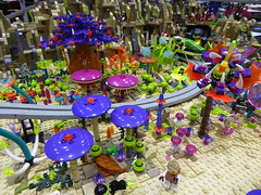 Alien Planet (Brett-Tron) Tags: blacktron monorail moc lego alien flower landscape spaceflowers spaceweeds spacelandscape alienworld spaceplants mtron battle
