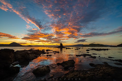 Indonesia (Martin Zurek) Tags: gilipadar sunrise glow sky clouds canon 5dsr distagon zeiss distagont2815 ze panorama landscape nature reflection morning rock ocean indonesia flores