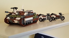STuG 3 Ausf G and BMWr 250s (colonelgreenanole) Tags: tank destroyer moc lego ww2 german vehicle
