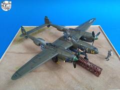 Lockheed P-38 J-10, 8th F.G. 80th F.S. - Millie -Lt Allen Elbert Hill - Academy Model 1:72 (Seby / Sebastian Di Guardo) Tags: lockheed p38 j 10 lightning 8th fg 80th fs millie lt allen elbert hill january 1944 finschhafen new guinea academy model 172