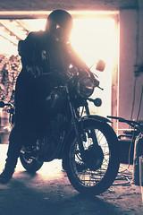 Yamaha SR250 (Schneggart) Tags: yamaha sr250 motorcycle splittone leather coat