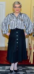 Ingrid024130 (ingrid_bach61) Tags: pleatedskirt faltenrock buttonthrough durchgeknöpft blouse