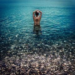 Aurora (Melissa Maples) Tags: antalya turkey türkiye asia 土耳其 nikon d3300 ニコン 尼康 nikkor afs 18200mm f3556g 18200mmf3556g vr spring mediterranean sea water square 11 brunette zea woman bikini mandala tattoo blue konyaaltızero beach