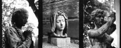 img-sam-123 (Roger Nuuk) Tags: paris pèrelachaise statue analog triptyque yashicasamurai print halfframe cimetière