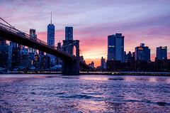 Brooklyn Bridge at sunset (lvphotos!) Tags: nyc newyorkcity broodklyn bridge beautiful sunset evening light colors river hudson water skyline buildings city famous iconic travel usa