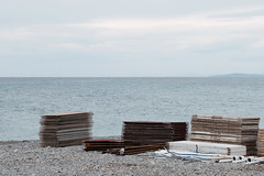 Playwoods (m-blacks) Tags: vallecrosia camporosso liguria imperia sea seaside coast waterfront sunday cloudy spring landscape moments mare costa sky panorama italy italia beach fujifilm x30 wood plywood lines horizon