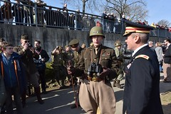 Patton speaks with Col Tyler (U.S. Army Europe) Tags: nierstein germany worldwar ww2 75strong strong strongeurope amphibious nazivictims kornsand engineers 249th history historic rhine rhineriver usareur armyeurope europestrong