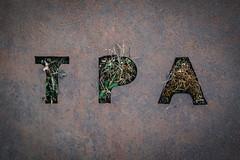 tpa   l   2017 (weddelbrooklyn) Tags: tpa metall natur pflanzen logo initialen metal nature plants initials buchstaben letters