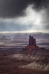 Dark Candle (Kirk Lougheed) Tags: candlesticktower canyonlands canyonlandsnationalpark greenriveroverlook islandinthesky usa unitedstates utah canyon cloud landscape moody nationalpark outdoor rockformation sky storm