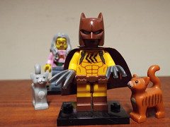 Catman meets Mrs Scratchen-Post (Paranoid from suffolk) Tags: 2017 lego batman movie catman minifig minifigures cats