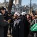 Faith leaders vigil by Westminster Abbey