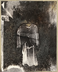 Dead Woman's Dress (///Brian Henry) Tags: darkroom alternative process silver gelatin abandoned mansion vintage victorian pentax 6x7 hp5 ilford kodabromide