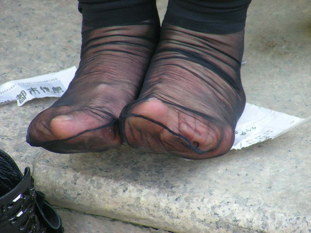 Candid feet shoeplay in nylons at conference 3