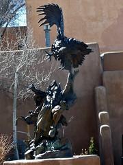 Downtown Santa Fe (honestys_easy) Tags: nm newmexico santafe southwest madrid sculpture bronze
