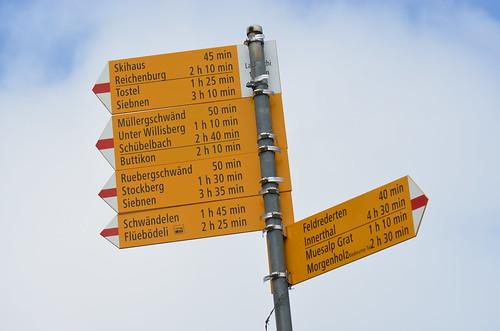 Bilten GL - Wegweiser Lauihöchi 1455 m