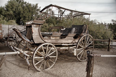 2017_03_10 Furnace Creek, CA._09TZ (Walt Barnes) Tags: furnacecreek deathvalley weathered calif coach stagecoach wagon canon eos 60d eos60d canoneos60d wdbones99 topazsoftware pse15