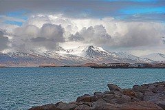 From Reykavik (Herculeus.) Tags: farm water mountains breakwater volcanicrock basalt clouds glacier outside outdoors outdoor landscape