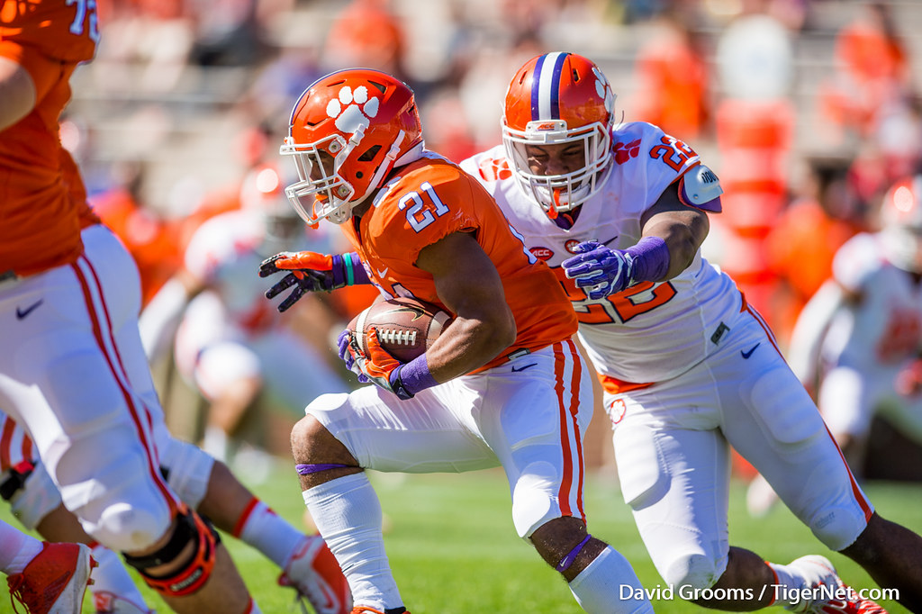 Clemson Photos: Xavier  Kelly, 2017, Football, springgame