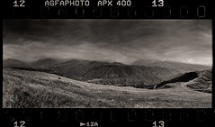 Artsakh (tsiklonaut) Tags: horizon 202 panorama panoramic panoraam pano 135 35mm film analog analogue analogica analoog black white negro y blanco bw mono monochrome wide agfa apx 400 ethol ufg deep dark landscape maastik nagornokarabakh travel discover experience mountain mountanous mägine mäed cloudy weather fog foggy mysty drum scan drumscan scanner pmt photomultipliertube