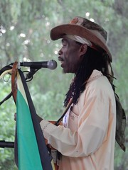 Brushy One String (mikecogh) Tags: hackney womad womadelaide 2017 botanicpark jamaican brushyonestring hat dreadlocks character
