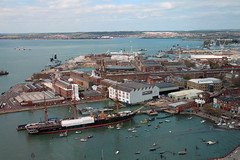 View of The Dockyards (NTG's pictures) Tags: the emirates spinnaker tower portsmouth historic dockyard royal navy hms victory warrior