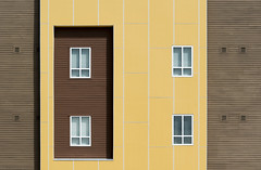 DSC_1856 (stu ART photo) Tags: abstract minimal city urban windows brown yellow lines