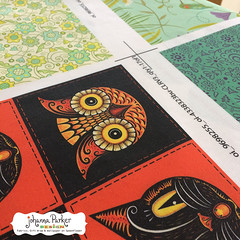 Johanna-Parker-Halloween-Owl-&-Black-Cat-Fabric (Johanna Parker Design) Tags: johannaparker surfacedesign illustration pattern patterndesign graphicdesign fabric giftwrap wallpaper whimsical swatch sewcute sew johannaparkerdesign halloween halloweenpattern halloweenfabric owl blackcat floral flowers