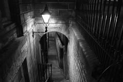 Barrie's Close (hazelhouliston) Tags: dark monochrome bnw night edinburgh close street old blackandwhite bw mono