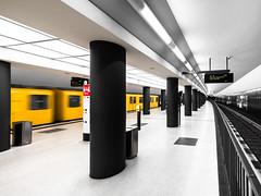 U55 - Subway station Brandenburger Tor (rainerralph) Tags: berlin olympus deutschland u55 berlinmitte germany architecture omdem5markii ubahnhofbrandenburgrtor subwaystation architektur