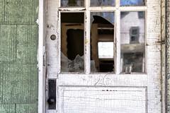 Derelict Door Reflections (Lo8i) Tags: 26 pa yellowdogvillage abandoned door number reflection urbex 7daysofshooting week40 beginswiththeletterd focusfriday derelict