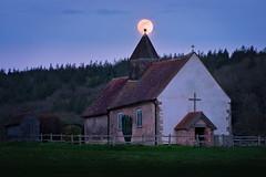 Celestial Orb (Langstone Joe) Tags: idsworth finchdean sthubertschurch churchonthehill saxon fullmoon moonrise
