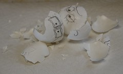 Mr. Dumpty and friend :) (s.jean.c) Tags: eggs hardboiled broken white eggshell cracked humptydumpty