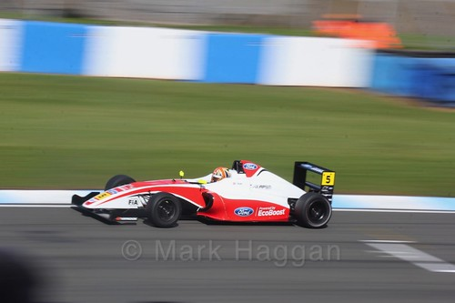 Oliver York in British F4 Race One during the BTCC Weekend at Donington Park 2017