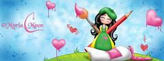 Aime-moi peintre by Myria-Moon (Myria-Moon) Tags: myriamoon mignon cute chibi children colorful coloré kawaii illustrationenfantine aimemoi