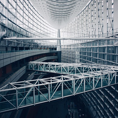 Forum (Olly Denton) Tags: building glass metal walkways windows public high architecture architecturalphotography architecturelovers design interior forum rafaelviñoly iphone iphone6 6 vsco vscocam vscotokyo vscojapan ios apple mac shotoniphone tokyointernationalforum tokyo japan