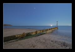 Moonlit Groyne (vaughaag) Tags: exmouth seaside sea seascape sky groyne sony a7 minolta 1735 classic glass long exposure longexposure