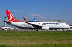 "TC-JVS, Boeing 737-8F2(WL), 60021 / 5911, Turkish Airlines, ""Güngören"", CDG/LFPG, 2017-04-03, Alpha loop, ready for taxi. (alaindurandpatrick) Tags: 600215911 tcjvs 737 737ng 738 737800 boeing boeing737 boeing737ng boeing737800 jetliners airliners tk thy türkhavayollari turkishairlines airlines cdg lfpg parisroissycdg airports aviationphotography"