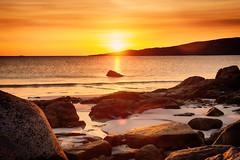Sunset on Dog's Bay (Marta Marcato) Tags: dogsbay sunset irlanda ireland sun sunlight hdr sea rocks beach yellow orange red tramonto sole mare rocce spiaggia giallo arancio rosso nikond7200