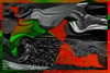 Cósmico (seguicollar) Tags: imagencreativa photomanipulación art arte artecreativo artedigital virginiaseguí abstracción abstracto rojo red vede green gris negro black curvas ondas pájaros esferas texturas
