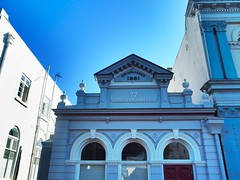Hawera Heritage (shonainnewzealand) Tags: olympusomd blue hawera taranaki newzealand architecture