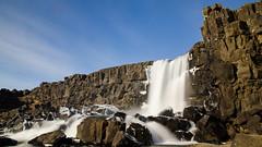 Pingvillar, the waterfall (rafpas82) Tags: pingvillar islanda iceland waterfall cascata cascada easter cielo sky rock cliff roccia nd longexposure acqua water nikond7000 d7000 1770sigmacontemporary 1770sigma sigma1770 1770