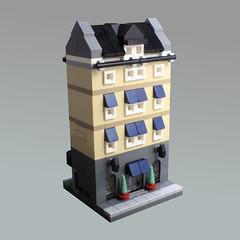 Mini Modular Hotel - Back Street (O0ger) Tags: mini modular minimodulars lego moc hotel microscale